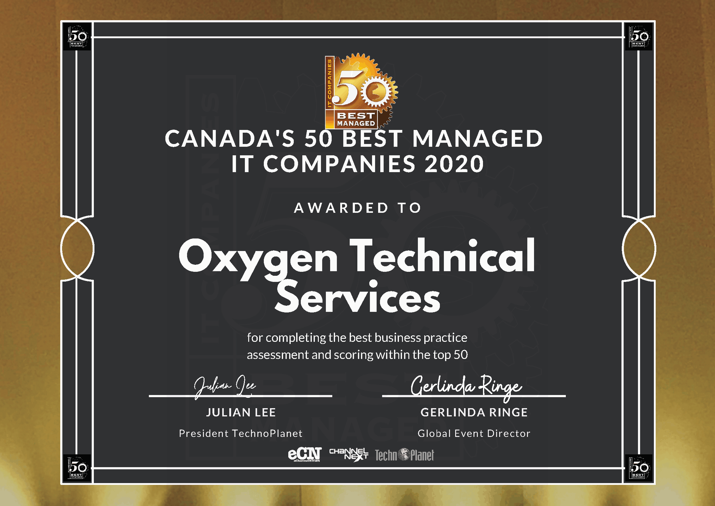 Oxygen Technologies - One of Canada's 50 Best Managed IT Companies